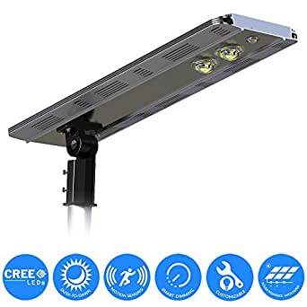 eLEDing Solar Power SMART CREE LED Street Light for Commercial Residential Parking Bike Paths Walkways Courtyard (20)