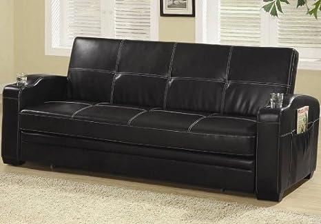 Amazon.com: Futon Sofa Cama Con Bolsillo De Almacenamiento y ...