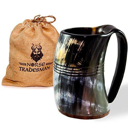Norse Tradesman Genuine Viking Drinking Horn Tankard (1, The Eternal XXL)