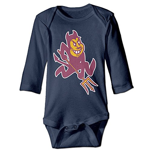 [JJVAT Arizona State University Sun Devils 01 Long Sleeve Outfits For 6-24 Months Boys & Girls Size 24 Months] (Devil Girl Outfit)