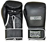 Japanese Style Training Boxing Gloves 2.0 - Velcro or Lace-Up - 12oz, 14oz, 16oz, 18oz - 9 Colors to choose (Black, 14oz Velcro)