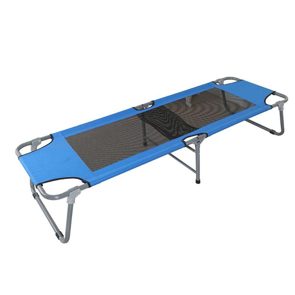 Liegestuhl Büro Siesta Bett Recliners Outdoor Leichte Portable Beach Bett Einfache Klappbett Blau