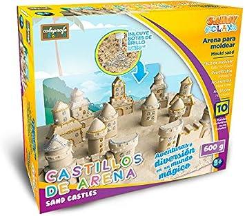 COLEPROFE Arena para Moldear Castillos de Arena 600 Gramos: Amazon.es: Juguetes y juegos