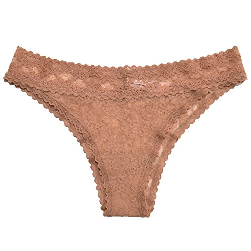 Victoria's Secret Lacie Panties Low Rise Cheekini (X-Small, Beige)