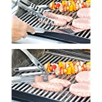 Menschwear BBQ Tool Sets Heavy Duty Stainless Steel Barbecue Accessories Aluminum Case Grill Tools Set (10-Piece) 16 Professional grilling set: grill shovel*1 , fork*1 , knife*1 , tongs*1 , silicone basting brush*1 , grill cleaning brush*1 , skewers*4 . Shovel has a razor sharp serrated edge on one side for easy cutting of meat, a meat tenderizer on the other side, and a built-in bottle opener. Durable and easy to clean: All stainless steel, this 10-piece grill set won¡¯t chip, tarnish or rust. Stylish and safe: Extended stainless handles add elegance and keep your hands away from the flames.