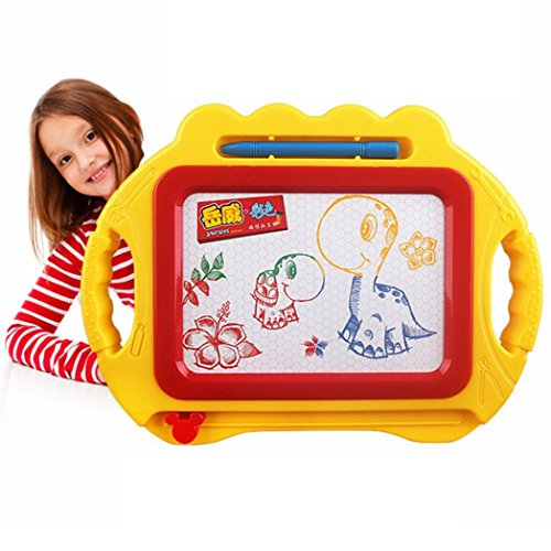 Livoty Educational Kids Doodle Toy Erasable Magnetic Drawing Board   Pen Gift New  Yellow