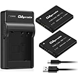 OAproda 2 Pack Replacement Canon NB-11L Battery and Ultra Slim Micro USB Charger for Canon NB-11LH, PowerShot A2300 IS, A2400, A2500, A2600, A3400, A3500 IS, A4000 IS,ELPH 110 HS,320 HS,IXS 240HS
