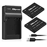 OAproda 2 Pack NB-11L Battery and Ultra Slim Micro USB Charger for Canon NB-11LH, PowerShot A2300 is, A2400, A2500, A2600, A3400, A3500 is, A4000 is,ELPH 110 HS, ELPH 320 HS, ELPH SX420 is Camera
