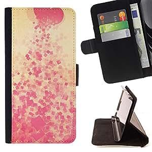 BullDog Case - FOR/Sony Xperia Z3 D6603 / - / Heart spit Pink Pattern /- Monedero de cuero de la PU Llevar cubierta de la caja con el ID Credit Card Slots Flip funda de cuer