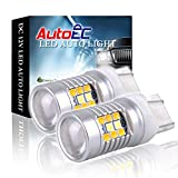 AutoEC 2x Super Bright White/Yellow Dual-Color 7441 7443 7444 28-SMD Switchback LED Bulbs For Turn Signal Lights 2-pack