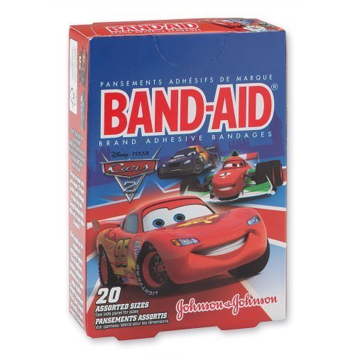 Disney Waterproof Bandages - Band-aid Disney Cars Bandages - 20 Per Pack