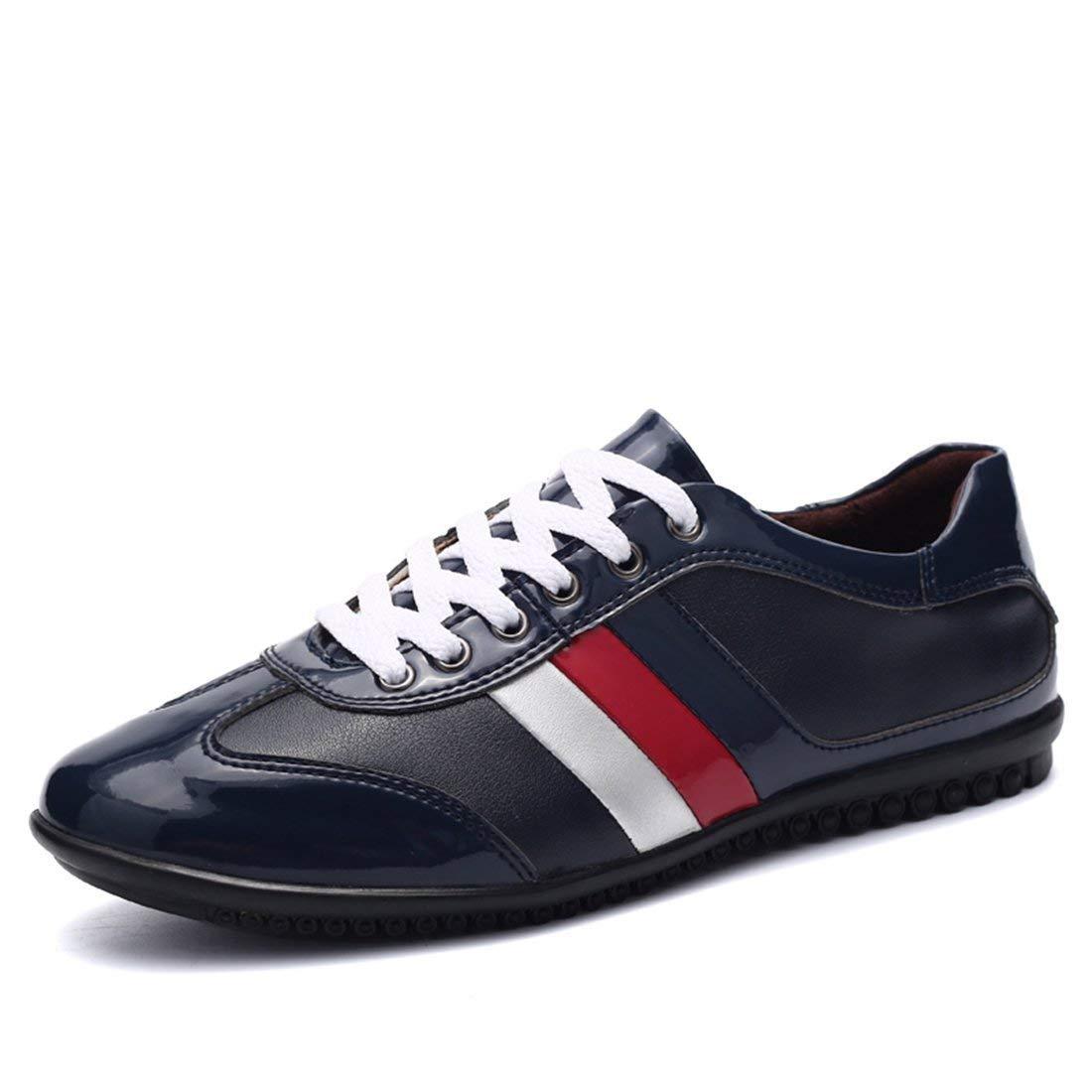 Boy's Herren Streifen handgemachte dunkelblaue Turnschuhe UK 6 6 6 (Farbe   -, Größe   -) 5062e7