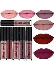 SHERUI Waterproof Matte Liquid Lipstick Long Lasting Lip Gloss Lipstick Set of 6