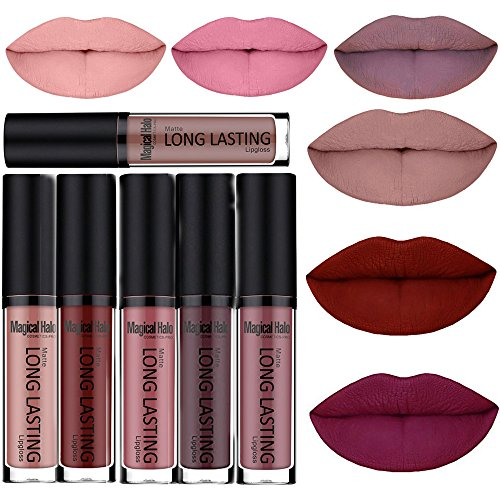 SHERUI Waterproof Matte Liquid Lipstick Long Lasting Lip Gloss Lipstick Set of 6 Best Matte Lipstick
