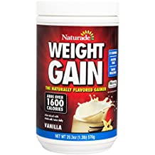 Naturade Weight Gain Instant Nutrition Drink Mix, Vanilla ,20.3 Ounce