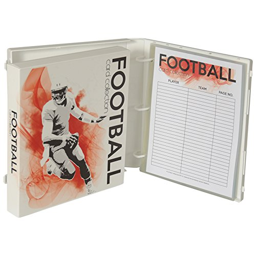 UniKeep Football Trading Card Collection Binder - Holds up to 180 Standard Size Cards (2 per pocket) - Basketball Collectors Album