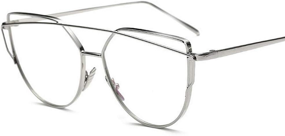 YMTP Women Clear Lens Sunglasses Cat Eye Women Sun Glasses For Women Men Glasses Alloy Full Frame Goggles Gafas