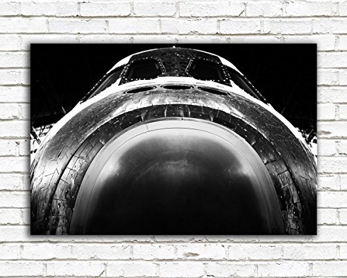 nasa-space-shuttle-poster-printed-on-metal-featuring-a-unique-and-dramatic-black-and-white-view-of-d