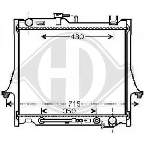 Diederichs DCM2549 Radiator, radiator: