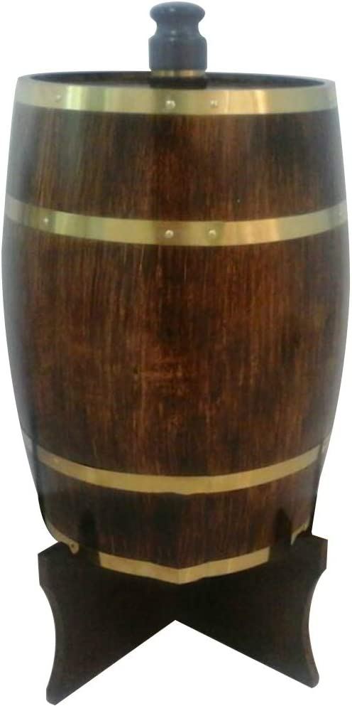 Wine Dispenser, Barril De Vino Vertical Forro De Acero Inoxidable con Cerradura Barril De Cerveza Cubo Fresco Vinificación Barril Sellado Tingting (Color : Brown, Size : 50L)