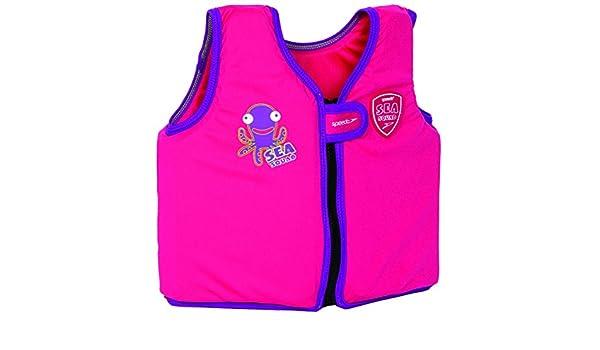 Speedo Chaleco flotador para niños, talla: 2-4 años, color rosa y morado: Amazon.es: Deportes y aire libre