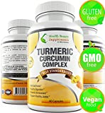 | HB&S Solutions Turmeric Curcumin Complex | Vegan Friendly, Gluten Free with Curcuminoids| Black Pepper Bioperine | Anti Inflammatory Pills |Joint Pain Relief | 60 Capsules | 1300mg Daily