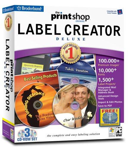 The Print Shop Elements:  Label Creator Deluxe