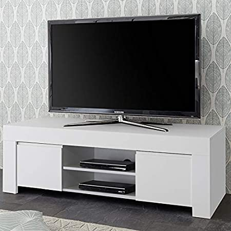Kasalinea - Banco de TV (lacado), color blanco: Amazon.es: Hogar