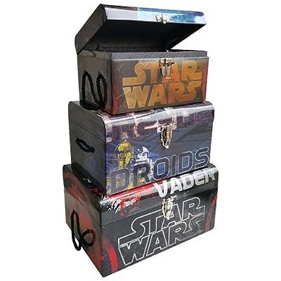 Star Wars 3-pc. Darth Vader & R2-D2 Flat Top Kids Toy Storage Trunk Set