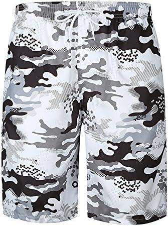 RaiFu ビーチ ショート パンツ メンズ ファッション カモフラージュ プリント ビーチ カジュアル ショート パンツ 通気性 速乾 コットン ショーツ M図示のように