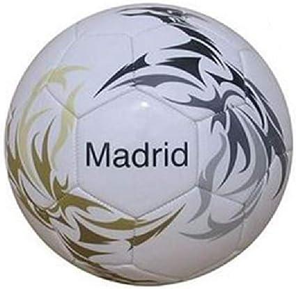 Junatoys Madrid Balón fútbol, Hombre, Blanco, Talla Única: Amazon ...