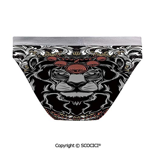 SCOCICI Women's Elastic Panties Forest Jungle Emperor Soft and Breathable