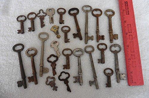 Brass Eagle Barrels - Lot of Skeleton Keys vintage antique hollow barrel key Presto RH Co eagle lock +
