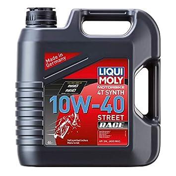 Liqui Moly Calle Carrera Aceite Totalmente Sintético 10W-40 4 Litros: Amazon.es: Coche y moto