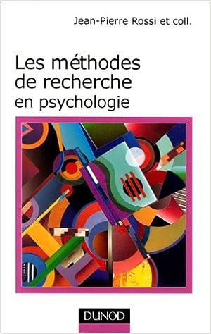 En ligne Les méthodes de recherches et psychologie pdf epub