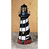 Meyda Tiffany 20539 Cape Hatteras Lighthouse Accent Lamp, 10″ Height