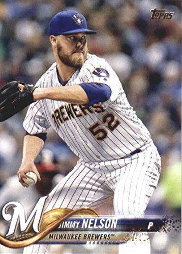 2018 Topps Series 2#456 Jimmy Nelson Milwaukee Brewers Baseball Card - GOTBASEBALLCARDS