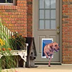 Ideal Pet Products Deluxe Aluminum Pet Door with Telescoping Frame, Extra Large, 10.5″ x 15″ Flap Size, White