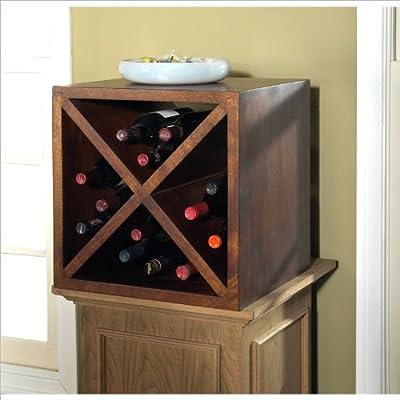 Modus Furniture International Palindrome Wine Storage Cube, Chestnut