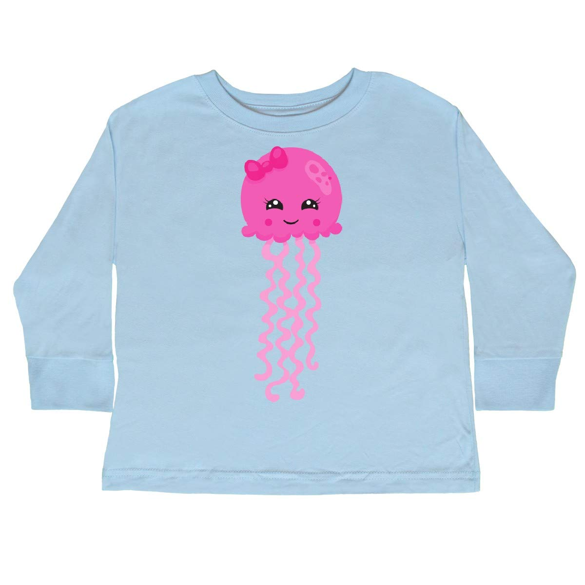 Cute Jellyfish with Pink Toddler Long Sleeve T-Shirt inktastic Pink Jellyfish