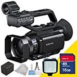 Sony Pxw-x70 Professional Xdcam Compact Camcorder with Professional Camcorder Video Flash and Extra Rechargeable Battery, 16gb Sdhc Secure Class 10 Memory Card and Lens Cleaning Cloth 5avecamera