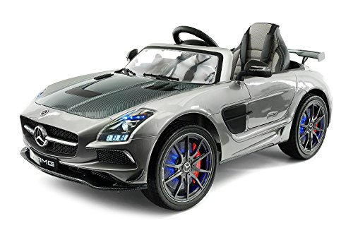 2018 Mercedes SLS AMG 12V Car For Kids Ride on Toy Power Wheels with UV Lights, Leather Seat, Built in LCD Touch Screen TV