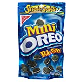 Oreo Mini Chocolate Bite Size Sandwich Cookies, 8-Ounce Snak-Saks (Pack of 12)