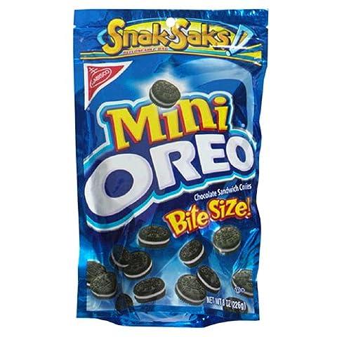 Oreo Mini Chocolate Bite Size Sandwich Cookies, 8-Ounce Snak-Saks (Pack of 12) (Bite Size Oreos)