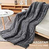 Argstar Sherpa Fleece Weighted Blanket for Adults
