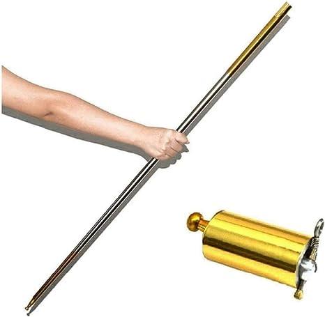 Tragbare Kampfkunst Metall Magic Pocket Bo Stab 110cm New Pocket Magic SticYH rt