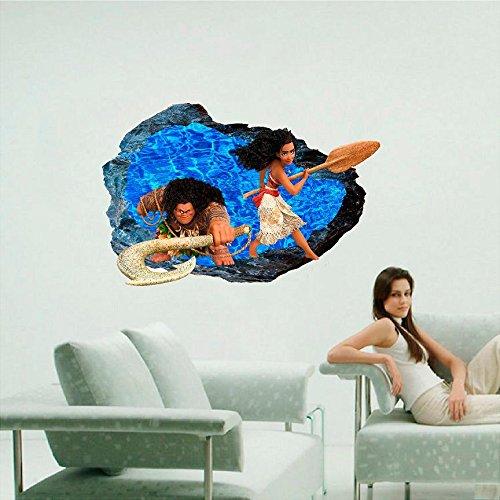 Moana Rock 3D Decal Wall 3D Decal Graphic Vinyl Sticker Mural Kids. 18, 24or 36