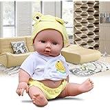 "12"" Lifelike Newborn Baby Doll Silicone Vinyl Reborn Handmade Dolls (Yello)"