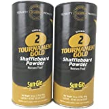Sun-Glo Twin Pack of 2 Speed Shuffleboard Powder Wax with a Shuffleboard Sweep bundle option