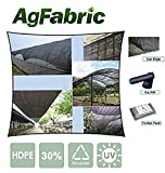10x30 carport - Agfabric 70% 10ft X 30ft Sunblock Shade Cloth with Free Clips for Plant Cover, Greenhouse, Barn or Kennel, Pool, Pergola or Carport